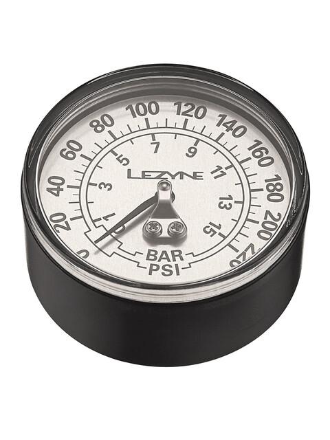 """Lezyne Manometer 2-5"""" 220PSI für alle Floor Pumpen schwarz/silber"""
